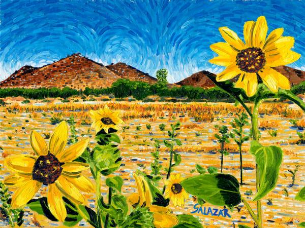 Sunflowers In The Desert Art | War'Hous Visual Art Studio
