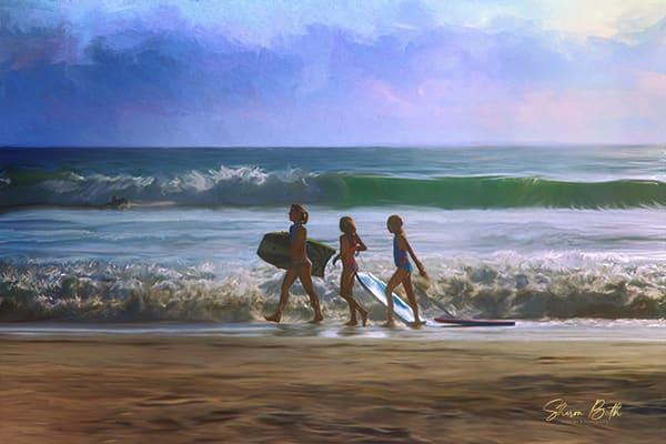 Girls On The Beach Art | Sharon Beth