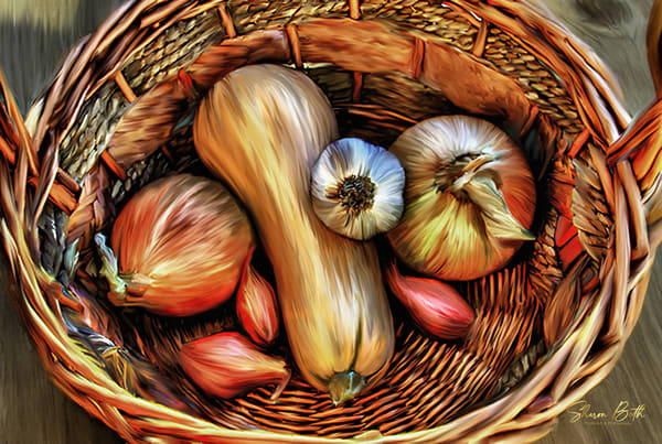 Basket Of Veggies Art | Sharon Beth