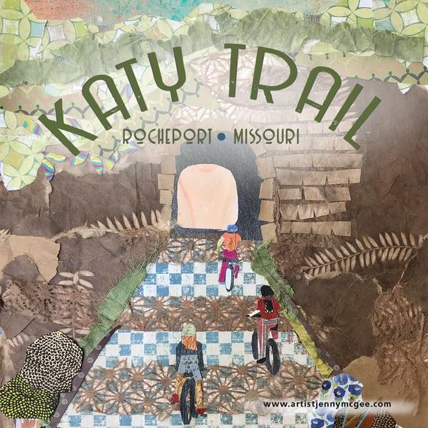 Katy Trail Tunnel Coaster Art   Jenny McGee Art