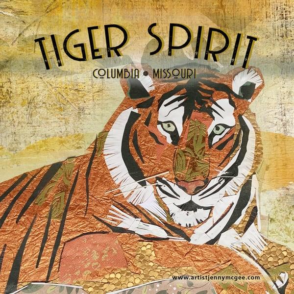 Tiger Spirit Coaster Art   Jenny McGee Art