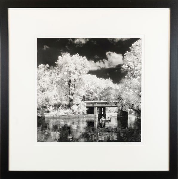black, white, infrared, Minneapolis, Lake of the Isles, Lake Calhoun,