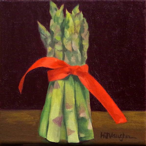 Asparagus With A Red Ribbon Art   Helen Vaughn Fine Art