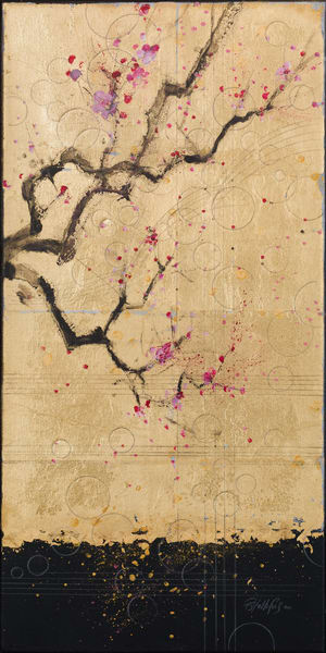 Harvest In Gold Iv   Cherry Blossoms Art | Freiman Stoltzfus Gallery