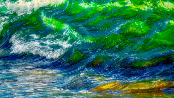 Green Wave Art | Soaring Whales Photography LLC