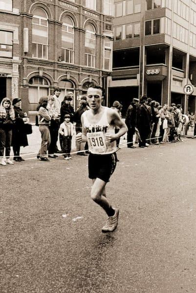 Joe Strummer of The Clash in the 1983 London Marathon