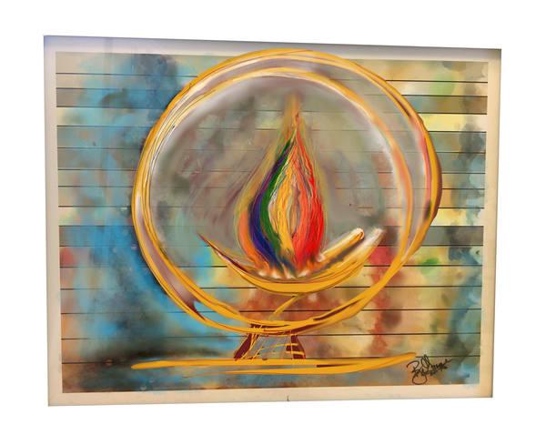 Rainbow Chalice 4cuc Art   ART By George!