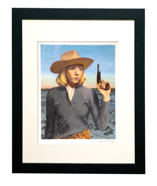 Pistol Cowgirl Portrait Art | Kym Day Studio