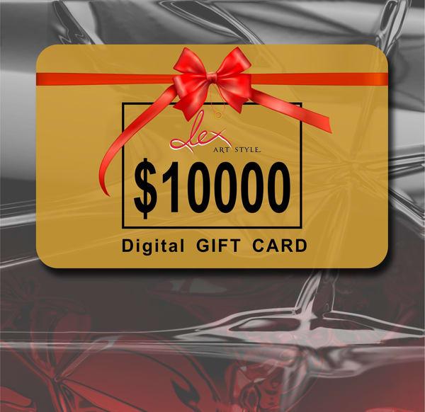 $10000 gift card