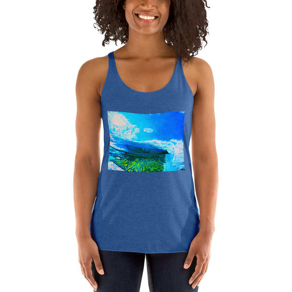 Reef Break Womens Racerback Tanks   CruzArtz Fine Arts