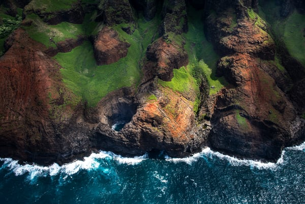 Napali Coast Blow Hole Photography Art | Ed Sancious - Stillness In Change