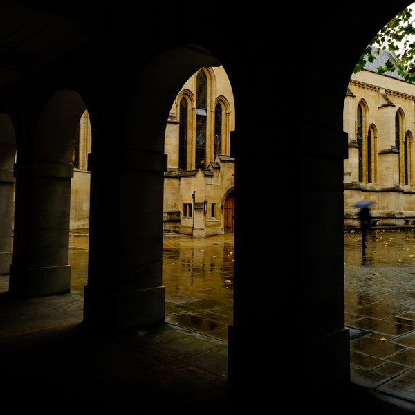 Rainy London Day By Temple Church
