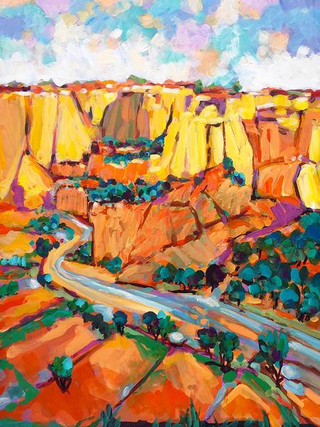 The Lazy River Flows Through The Canyon Art | Charles Wallis
