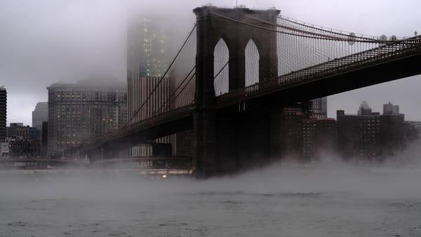 Foggy Bridge To Brooklyn Photography Art | LenaDi Photography LLC