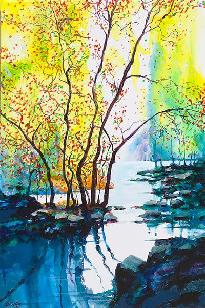 A Fine Fall Day At The Lake Art | Charles Wallis