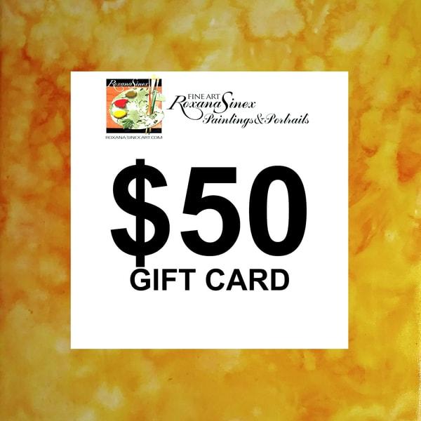 $50 Gift Card | Roxana Sinex Art