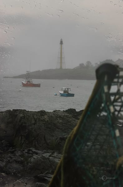 Rainy Day at the Lighthouse in Marblehead, MA.