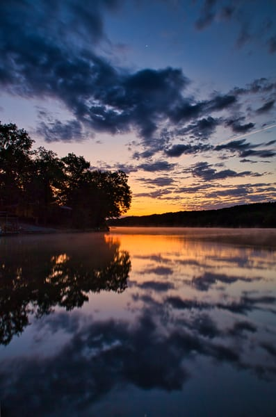 Sunrise reflection on Lake Desoto, Hot Springs Village, AR