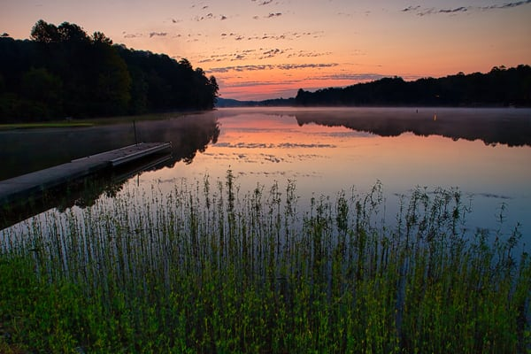 Early morning sunrise on Lake Cortez, Hot Springs Village, AR