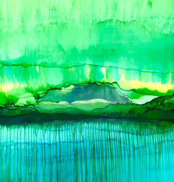 Mountain Obscured, Original Art | Sandy Smith Gerding Artwork