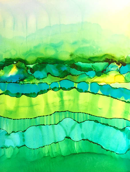 Water Layers Illuminated Art | Sandy Smith Gerding Artwork