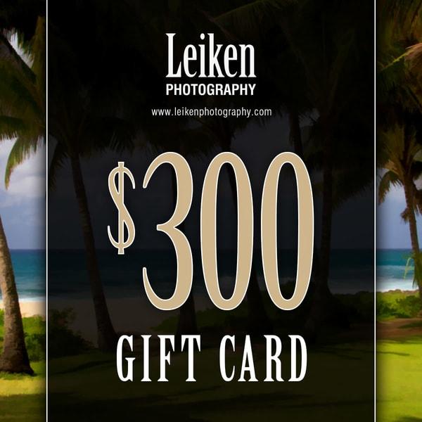 $300 Gift Card   Leiken Photography