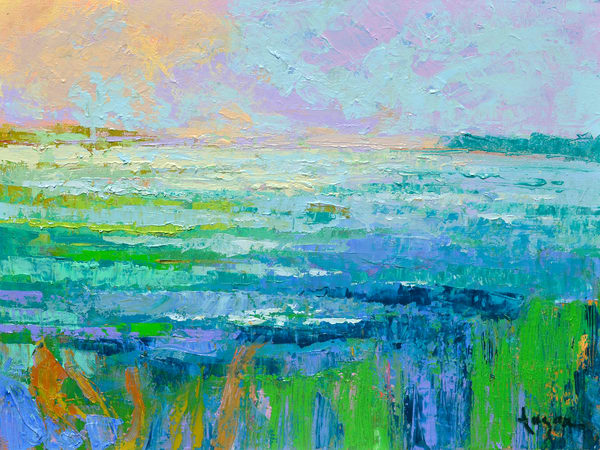 Beautiful Water Painting Canvas Art Print by Dorothy Fagan