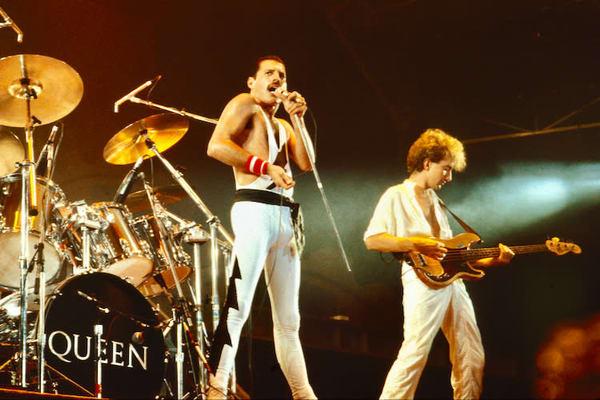 Freddie Mercury & John Deacon of Queen