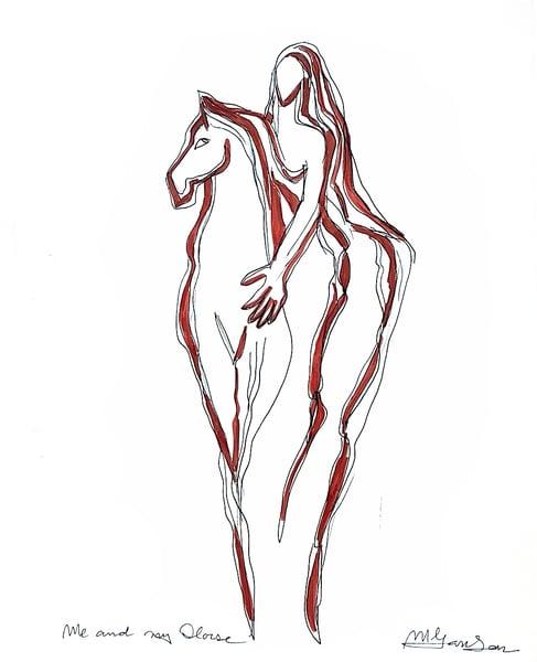 Fine Art Prints | Me And My Horse | Micky Jansen