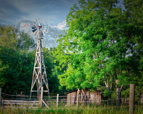 Windmill In Mountains Photography Art | Grace Fine Art Photography by Beth Sheridan