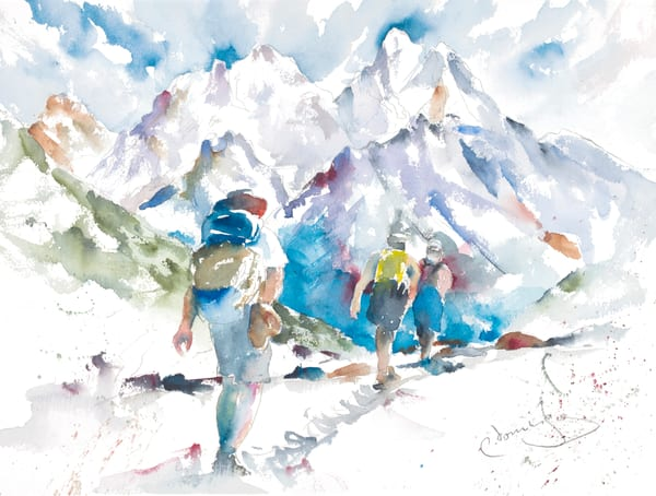 Hiking The Tetons Art | Patrick Dominguez Art