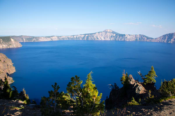 Crater Lake blue waters from south looking north by Amy Hart, fine art photography