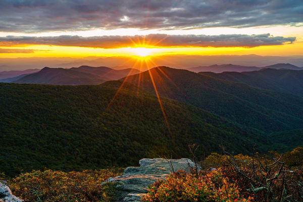 Craggy Mountain, North Carolina Sunset Wall Art Print by McClean Photography