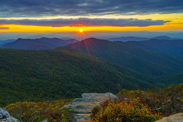 Craggy Mountain, North Carolina Sunset 3 Wall Art Print by McClean Photography