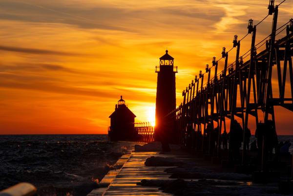 grand haven sunset