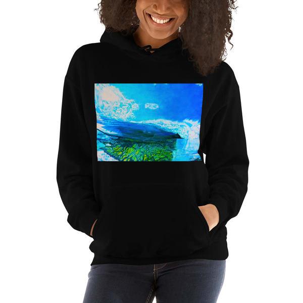 Reef Break Womens Hoodies   CruzArtz Fine Arts