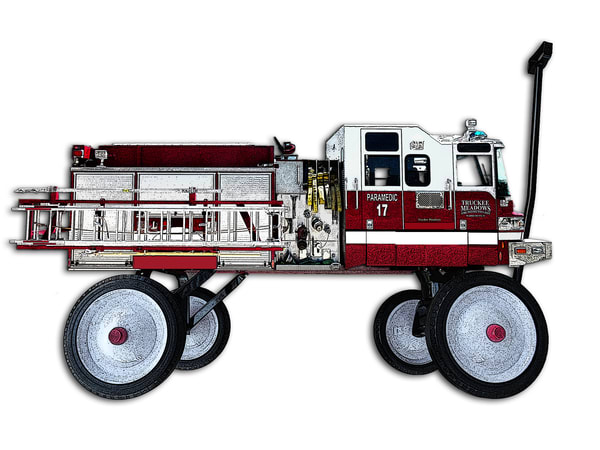 My Red Wagon Is A Fire Engine Art | Art from the Soul