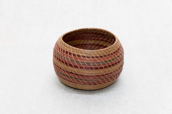 Petite Hand Woven Pine Needle Basket   http://www.mooseprintsgallery.com
