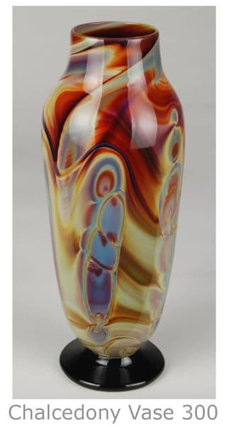 Chalcedony Glass Vase, Deco Shape | Ed Pennebaker, Red Fern Glass