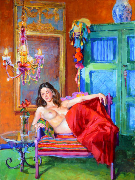 "Original painting by Eric Wallis titled, ""Joyful Existence."""