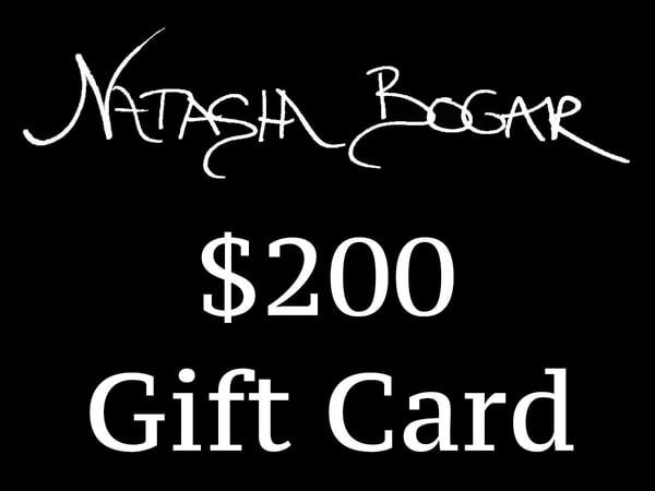 Natasha Bogar $200 Gift Card