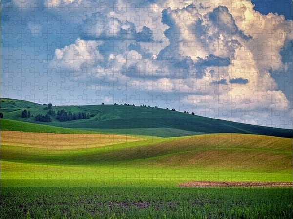 Spring Afternoon in the Palouse Jigsaw Puzzle | Shop Photography by Rick Berk