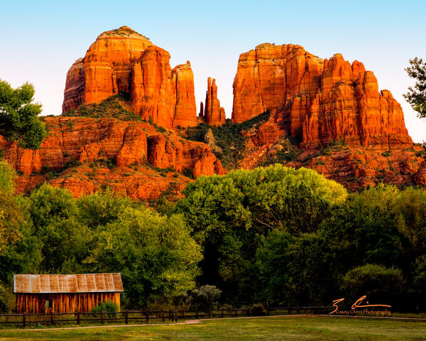 Cathedral Rock And Barn Photography Art | Casey Chinn Photography LLC