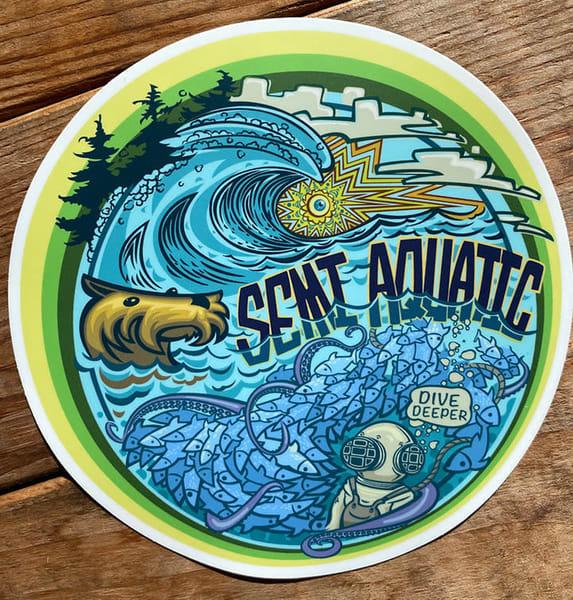 Spencer Reynolds Semi Aquatic Dive Deeper Sticker