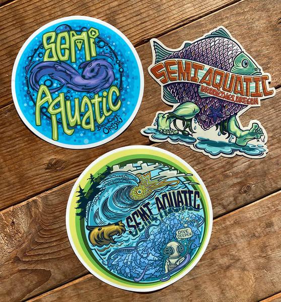 Spencer Reynolds Semi Aquatic Sticker Pack