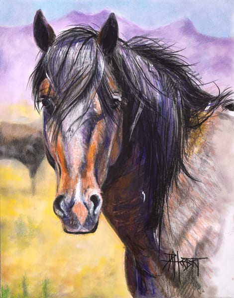 """Onaqui Gaze""(Lavender Hills) Art | debherbertart"