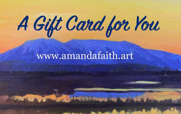 $100 Gift Card | Amanda Faith Alaska Paintings / Estuary Arts, LLC
