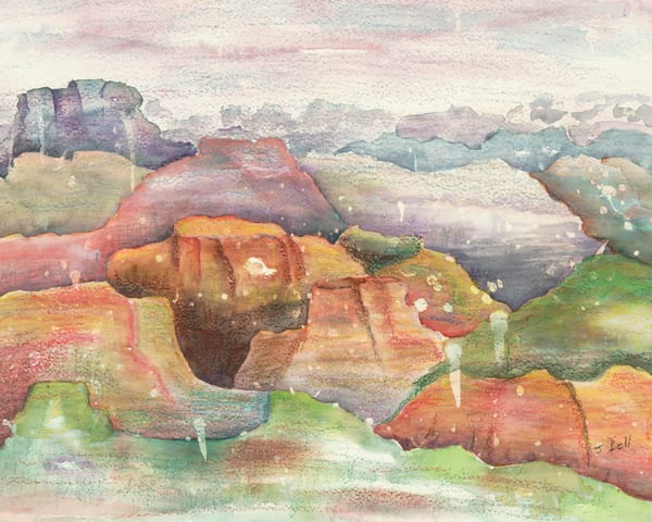 Abstract Mountains  |  June Bell Artist