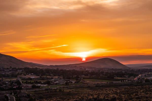 Badger Mountain Sunset Photography Art | Austin Marvel