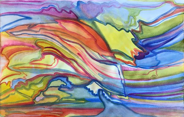 Sunset At The Beach Art | Artist Rachel Goldsmith, LLC